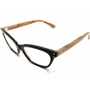 Gucci Women's Shiny Black and Brown Eyeglasses!